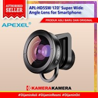 APEXEL APL-HD5SW Lensa Super Wide Angle 170° Lens for Smartphone
