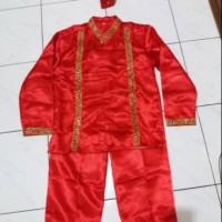 Baju Sulawesi SD baju Makassar pakaian adat sulawesi baju bodo laki L