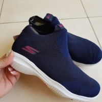 Sepatu Original Skechers Revolution Ultra Socks Woman Navy