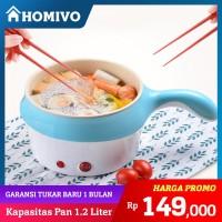 Homivo Panci elektrik serbaguna Panci Listrik lapisan keramik Fry Pan