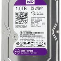 "Harddisk WDC Purple 1TB HDD SATA 3.5"" RESMI"