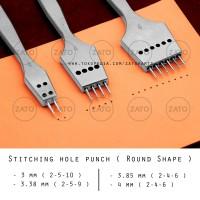 Zato Stitching hole punch ( Round Shape ) SET - leather tools