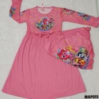 Baju Muslim Gamis Anak perempuan Rample 4 5 6 7 Tahun MAP015