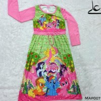 Baju Muslim Gamis Anak Perempuan 4 5 6 7 Tahun MAP007