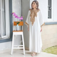 Best Tunik Kaftan Nagita Satin Bordir/ Kaftan Dress Brukat Chairunnisa