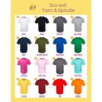 Kaos Polos Eco Soft Cotton 30s Yarn And Spindle YnS (LENGAN PENDEK) - S