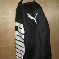 Tas Sepatu Futsal Bola Gym Fitness Puma Hitam Putih
