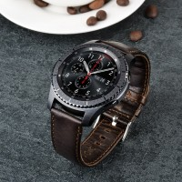 Premium Leather Strap Band for SAMSUNG GEAR S3 GALAXY WATCH 46MM