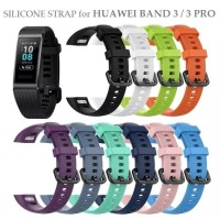 Silicone Buckle Sport Strap Watch Band for HUAWEI BAND 3 PRO Tali Jam