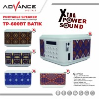 speaker advance tp 600 Batik portable digital tp 600bt bluetooth ori