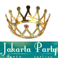 Mahkota Pesta Gold / Mahkota Ultah / Gold Crown / Mahkota