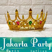 Mahkota / Mahkota Pesta / Mahkota Ultah / Gold Crown
