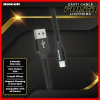 Delcell Kabel Zaxti FULCO Lightning Charger and Data 2A Fast Charger
