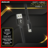 Delcell Kabel Zaxti FULCO Type C Charger and Data 2A Fast Charge 100cm