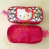 Tempat Pensil Resleting Motif Hello Kitty Murah