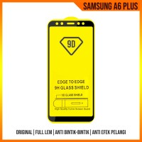 SAMSUNG A6 PLUS 2018 TEMPERED GLASS ANTI GORES FULL COVER