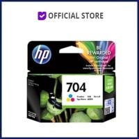 Tinta HP 704 Colour Original . tinta printer HP ori