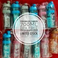 BOTOL MINUM NAMA, TUMBLER CUSTOM, BOTOL MINUM ANAK, BOTOL MINUM BPA - Merah Muda
