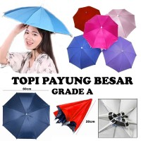 PROMO Topi Payung kepala besar payung topi diameter 60cm grade A 60 cm