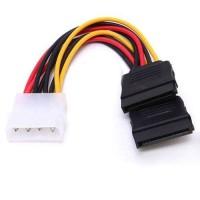 Kabel Konverter Molex to Power SATA Female Output Double Cabang 2