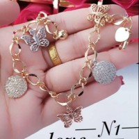 *LL Xuping set perhiasan gelang maianan kupu kalung anting cincin