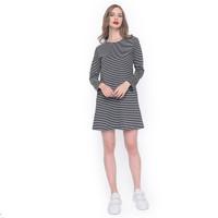 MOSIRU Tunik Wanita Maxi Dress Fashion Cewek Termurah Salur Little