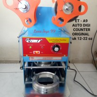 MESIN CUP SEALER ETON ET-A9 AUTOMATIC COUNTER (gelas 12-22oz/Thai tea)