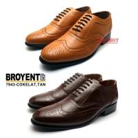 Sepatu Kerja Kantor Pantofel Pria Kulit Sapi Asli Hitam 7943