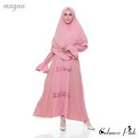 Setelan Muslim Wanita + Khimar | Ghania Syar'i Original | Pink