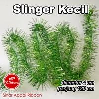 Slinger Kecil 1.2m 4cm Tinsel Hantaran Dekorasi Natal Tipis Selinger - Magenta