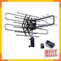 Antena Tv Digital Outdoor Pf Dengan Remote Booster Kabel 10 Meter