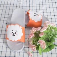 [IMPORT] Sandal Selop Desain Kpop BTS bt21 Kartun Lucu Bahan PVC