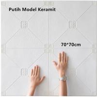 Wallpaper 3D Model Keramit Ukuran 70 X 70 Wall Sticker Putih