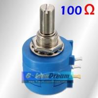 Bourns Potensiometer 100 Ohm Wirewound 10 Putaran Potensio 100R Turn