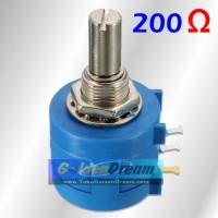 Bourns Potensiometer 200 Ohm Wirewound 10 Putaran Adjustable Potensio
