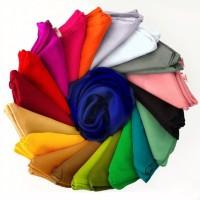 Jilbab Voal Polos Segi Empat 110x110 20 pilihan warna