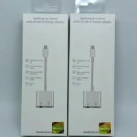 Splitter dual lightning adapter 2in1 Aux 3.5mm Iphone Original