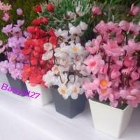 Bunga Sakura, Tanaman Artificial, Dekorasi, Pajangan, Daun Palsu
