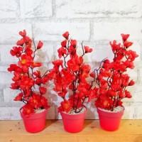 Bunga Plastik Artificial Palsu Hias Sakura Dekorasi Rumah