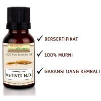 Happy Green Vetiver M.D. Essential Oil (10 ml) -Warna Coklat bkn Hitam