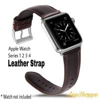 Apple Watch 42 44mm Genuine Cowhide Leather Strap Series 1 2 3 4