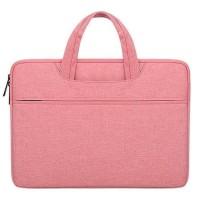 Tas Laptop Softcase Notebook Jinjing Nylon Waterproof 14 inch - PINK