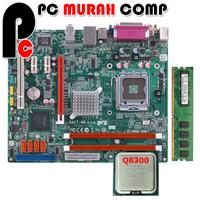 Motherboard LGA 775 G41 ECS DDR3 Dengan Processor Core2Quad Q8300