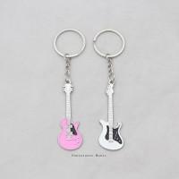 Couple Guitar Keychain | Gantungan Kunci motif Gitar Kado Hadiah musik