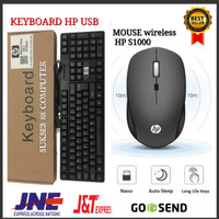 PAKET KEYBOARD HP USB + MOUSE WIRELESS HP S1000 100%NEW