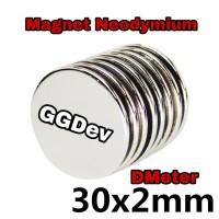 MAGNET NEODYMIUM SUPER KUAT 30x2 MM
