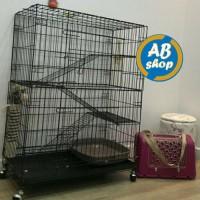 Kandang kucing tingkat 3 ukuran 76x46x100cm