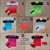 Baju Kaos Olahraga Jersey Anak Bola Setelan Futsal Volley Adidas 02