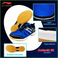 Sepatu Badminton Bulutangkis LI-NING LINING ATTACK 3 ORIGINAL