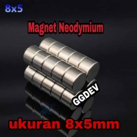 MAGNET NEODYMIUM SUPER KUAT 8x5 MM